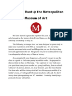 Metropolitan Museum of Art Scavenger Hunt for Grade 7
