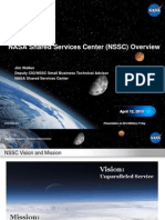 NASA Shared Services Center (NSSC) Military IT Industry Day Presentation