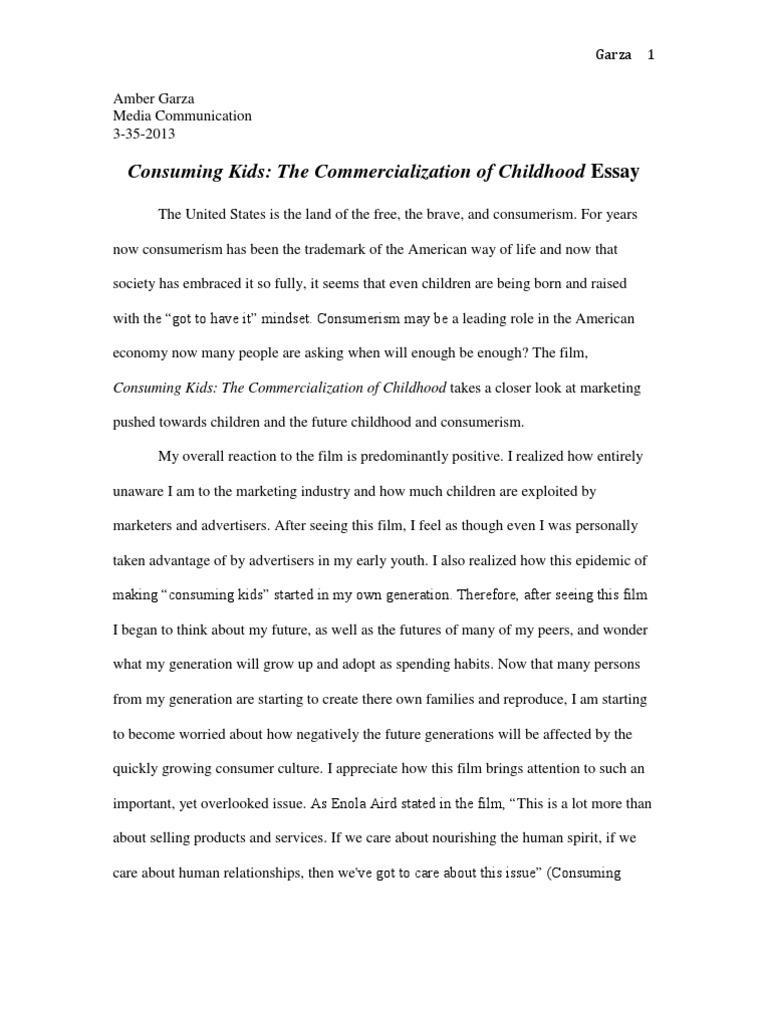 essay on childhood