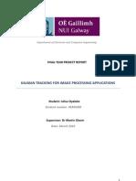 Final Report on kalman filter 2d tracking