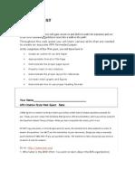 APA Webquest manual