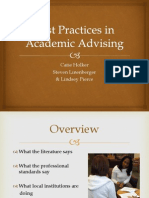 best practices in academic advising