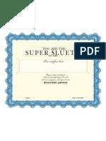 Mystery Artist Certificate