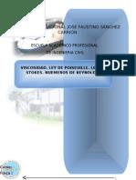 VISCOSIDAD. LEY DE POISEUILLE. LEY DE STOKES. NUEMEROS DE REYNOLDS.doc