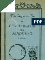 Rosicrucian AMORC - Key to Concentration & Memorizing