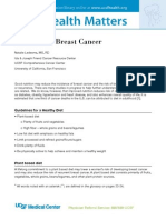 Nutrition & Breast Cancer