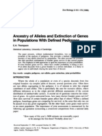 Ancestry of Alleles and Extinction of Genes