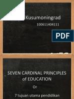 Seven Cardinal Principles of Education