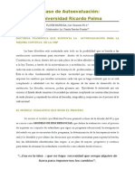 La Autoevaluación de la Universidad Ricardo Palma