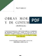 Tomo V - OBRAS MORALES Y DE COSTUMBRES - Plutarco - SOBRE SI LOS ATENIENSES FUERON MÁS ILUSTRES EN GUERRA O EN SABIDURÍA