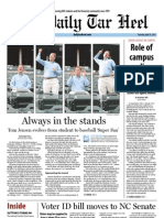The Daily Tar Heel for April 25, 2013