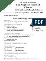 Pew Sheet 10 March 2013 L3