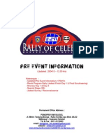 Pre Event Information Rally of Celebes 2013 (Updated 250413 - 12.00 hrs)