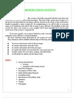 railway reservation system documentation
