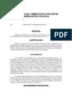 504 Influencia Del Cemento en Flotacion de Minerales De