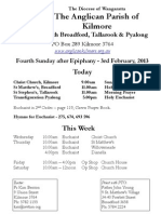 Pew Sheet 3 February 2013