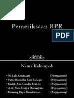 Pemeriksaan RPR