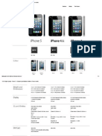 Compare specifications between iPhone models