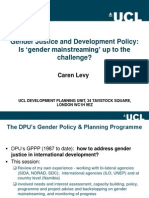 Gender Justice and Development Policy - Is Gender Mainstreaming Up to the Challenge