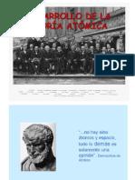 DESARROLLO DE LA TEORÍA ATÓMICA I