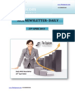 Mcx Market Insight for 25 April