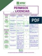 STEC - Permisos_licencias 2012
