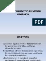 ANÁLISIS CUALITATIVO ELEMENTAL ORGÁNICO