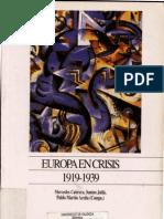 Mercedes Cabrera - Europa en Crisis