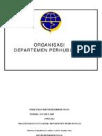 Km 43 Tahun 2005 Struktur Organisasi Dephub