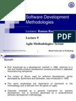 Agile software development :Scrum