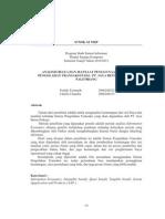 Analisis Biaya Dan Manfaat Sistem Pengolahan Transaksi Pada Pt Jaya Beton Perkasa Palembang