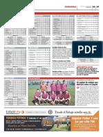 Publicación de las clasificaciones de las ligas Futbolcity en Superdeporte. Miércoles 24 de abril 2013