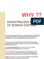 Decentralised Methods of Sewage Disposal