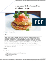 Glasgow Potato Scones With Best Scrambled Egg and Smoked Salmon Recipe - Channel4 - 4Food