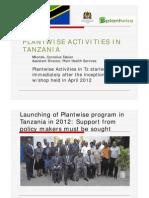 Plantwise Tanzania, the NPPO Experience