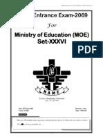 Moe Model Exam Set- Xxxvi 2069-9-28