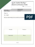 Appraisal Form Coordinator