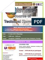 Literature Review - Source of Technical Knowledge June 2013