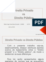 Direito Privado vs Direito Publico concluído
