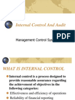 1. Internal Audit and Control