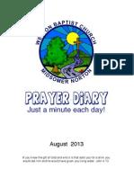 Prayer Diary May 2013
