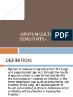 sputum Culture and Sensitivity