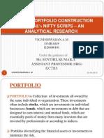 OPTIMAL PORTFOLIO CONSTRUCTION