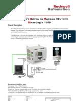 PowerFlex 70 With MicroLogix1100 on Modbus