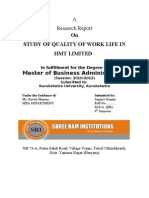 Final Study of Quality of Work Life in Hmt Limited