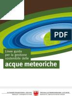 Linee Guida Acque Meteoriche
