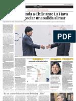 Bolivia Demanda a Chile Ante La Haya y Le Exige Negociar Una Salida Al Mar