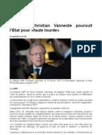 L'ex-UMP Christian Vanneste poursuit l'Etat pour «faute lourde» -Libération du 23-04-2013.odt