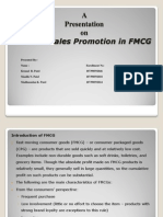 Roll of Sales Promotion In FMCG