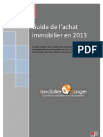 Guide Achat Immobilier 2013